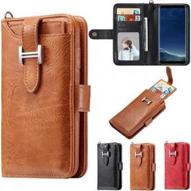 Monikäyttöinen lompakko 3i1 9 -kortti Samsung Galaxy S8 Plus SM-G955F kannettava lompakkokotelo