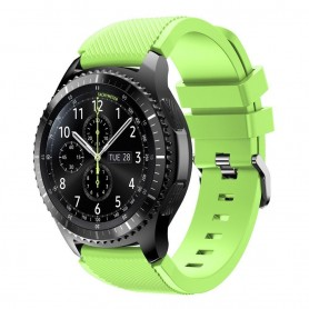 Silikoni Sport rannerengas Samsung Gear S3 Frontier - S3 Classic (lime)