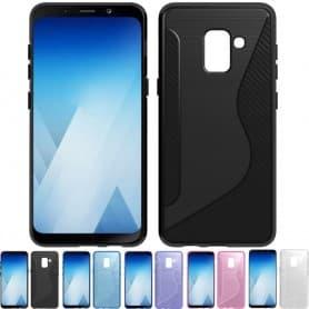 S Line silikonikuori Samsung Galaxy A8 Plus 2018 SM-A730F tpu mobiili kuori -kotelo