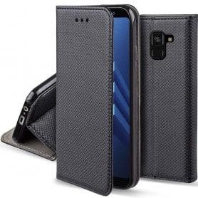 Moozy Smart Magnet FlipCase Samsung Galaxy A8 Plus 2018 Galaxy kuori