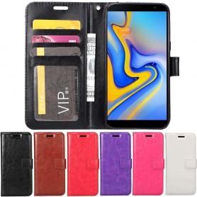 3-korttinen matkalaukku lompakko Samsung Galaxy J6 Plus (SM-J610F)